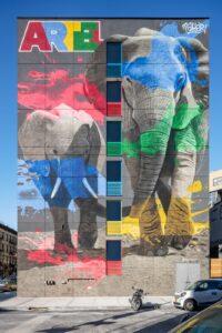 Artel Building Elephant Mural