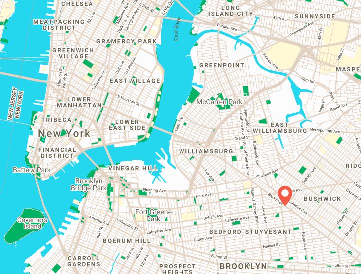 Artel Brooklyn Map 9 Malcolm X Blvd, Brooklyn, NY, 11221